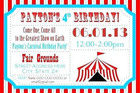 Carnival Birthday Invitations Carnival Party Invitation Template Simplyplay