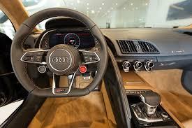 audi r8 interior 2016. Plain 2016 2016 Audi R8 V10 Gets Santorini Blue Paint And Havana Brown Leather For Interior I