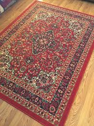 nice used oriental style area rug it really ties the room together