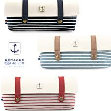 trendy office supplies. Sailor\u0027s Striped Pen Bag Fabric Pencil Case Trendy Stationery Organizer Student\u0027s Supplies School Gifts Office