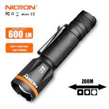 Nicron đèn pin led handfree nhiên liệu kép 90 độ twist quay clip 600lm nam  châm không thấm nước mini chiếu sáng đèn pin led ngoài trời n7 - Sắp xếp  theo
