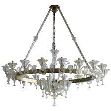 italian venetian murano glass chandelier around 1950s