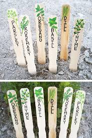 hand painted herb markers these wood herb signs or plant markers will add