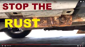 how to undercoat rust proof your car or truck