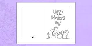 Mothers Day Card Template Colouring Design Mothers Day Card