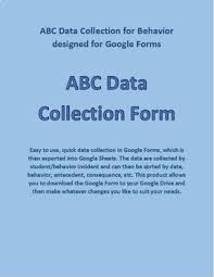 Abc Behavior Chart Abc Behavior Chart Data Collection Developed For Google Forms