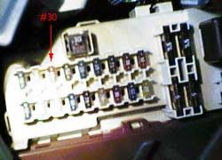 power cigarette lighter power key off how to celica hobby 3 locate fuse number 30 the third from the left on the top row of fuses