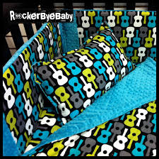 custom 3 piece punk baby crib bedding set thin pers you