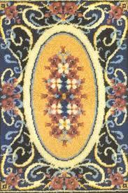 Floral Treasure Latch Hook Rug Pattern