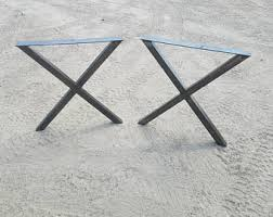 X Legs Table Legs  Steel Table Legs  Industrial Style  Metal Table Legs