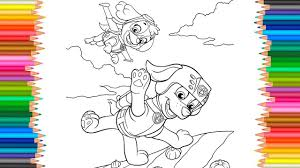 Paw Patrol Skye And Zuma Coloring Pages L Coloring Book Fun Videos Coloring Book Pages L