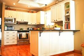 painting kitchen cabinets without sanding white wooden black ceramic counter top pendant lamp freestanding cooker oak