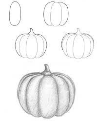 pumpkin drawing. learn to draw for kids. halloween pumpkin drawing tutorial