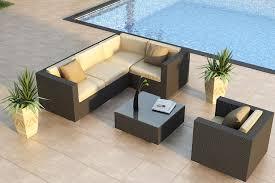urbana deep seating wicker sectional set