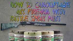 d i y camo paint job on riffle shot or hand spray paint you