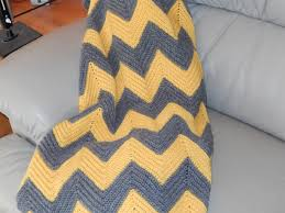 Double Crochet Chevron Blanket Pattern Unique Design