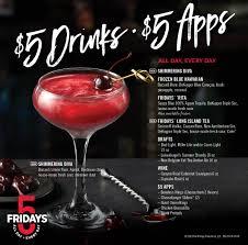 new fridays five bar menu