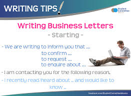 Business Letters Writing Tips Letter Writing Pinterest