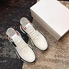 Wholesale Designer Shoes Fashion 2019 Wholesale Mens Designer Casual Shoes Luxury Fashion Brand Breathable White Mesh Letter Spring Autumn Sneakers 9953ce