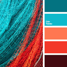 Color Palette #85  blue and coral ...