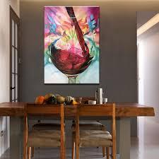 Us 2262 42 Off100 Hand Bemalt Abstrakte Moderne ölgemälde Auf Leinwand Trauben Rotwein Bild Wand Dekoration Für Esszimmer Wand Dekor Kunst In