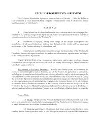Exclusivity Agreement Template Agreement Free Printable Exclusivity Agreement Template 4