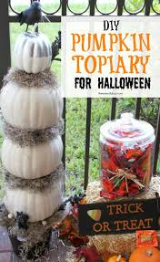 diy pumpkin topiary decorating idea
