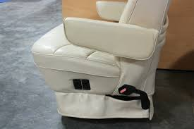 used rv leather look captain chairs for