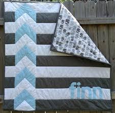 Chevron Stripe Baby Quilt Pattern Chevron Baby Quilt Kit Modern ... & Chevron Stripe Baby Quilt Pattern Chevron Baby Quilt Kit Modern  Personalized Chevron Quilt For Baby Boy Adamdwight.com