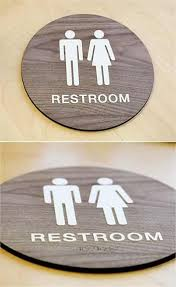 Handicap Bathroom Signs Impressive Stylish Restroom Signs ADA Braille Wood Bathroom Signs Signs