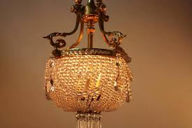 french beaded crystal basket chandelier
