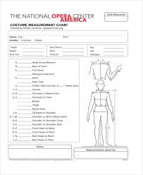 Measurement Chart Body Measurement Chart Templates 9 Free Word Pdf Format
