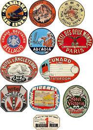 vintage luggage. vintage style travel suitcase luggage labels set of 12 vinyl stickers: amazon.co.uk: