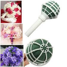 find more decorative flowers wreaths information about new 1 pcs fresh flowers bouquet holder handle bridal fl foam wedding flower decorations holder