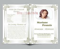 Memorial Service Template Free Funeral Program Mac Mediaschool Info