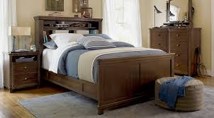 Boulder Chocolate 4 Pc Full Bookcase Bedroom