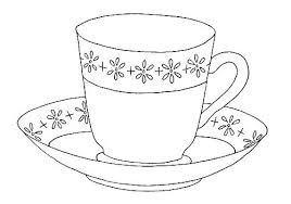 Cup Of Tea Coloring Page Thewestudio