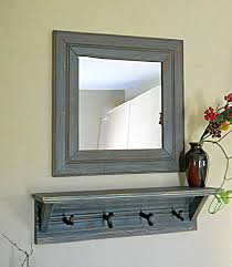 Coat Rack With Mirror And Shelf Entryway Mirror Shelf Coat Rack Rustic Farmhouse Decor 100 Piece 16