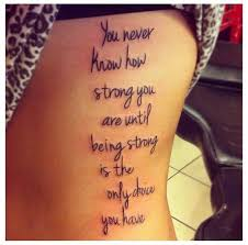 Quote Tattoos For Women Interesting 48 Positive Tattoo Ideas For Women That Are Very Encouraging