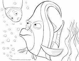 Finding Nemo Coloring Pages Free For Color Wumingme