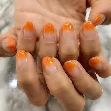 オレンジグラデーションネイル Instagram Posts Gramhanet