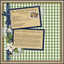 Recipe Page Layout Creating Recipe Cards With Digital Scrapbook Supplies