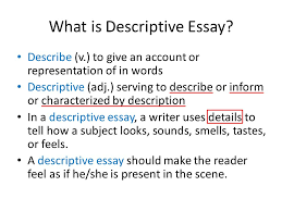 unit descriptive essays ppt video online  what is descriptive essay