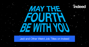 the th be you jedi and other weird job titles on indeed explore the latest job trends for jedi and other weird job