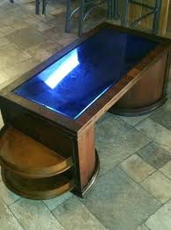 blue glass coffee table art speakeasy bar cabinet coffee table the top is cobalt blue glass blue glass coffee table