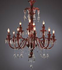 crystal chandelier large bohemian carmine cut crystal chandelier with cut crystal ts and bells