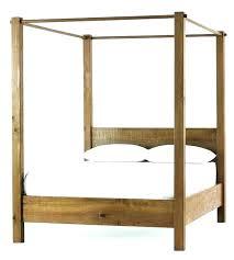 Wood Canopy Bed Frame King Size – lazervaudeville.com