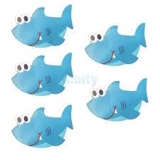 5pc shark non skid adhesive decals non slip bathtub appliques shower sticker