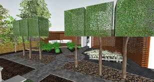 Small Picture Garden Design Visualisation with Custom Texture Maps Studio 425