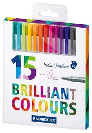 Купить <b>набор капиллярных ручек Staedtler</b> Triplus 334, 15 цветов ...